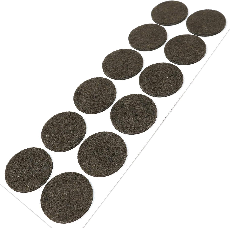 /Ø 22 mm auto-adhesivos Protectores de suelo para patas de mueble redondo 50 x almohadillas de fieltro Adsamm/® marr/ón con grosor de 3,5 mm de la m/áxima calidad