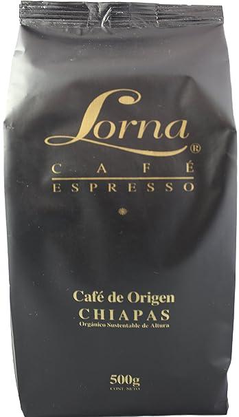 Lorna Café Espresso Mexican Chiapas Organic Premium Gourmet Coffee, 18 oz. (Espresso Roast