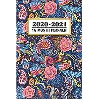 2020 - 2021 18 Month Planner: Colorful Blue Paisley Pattern | January 2020 - June 2021 | Daily Organizer Calendar Agenda | 6x9 | Work, Travel, School ... Calendar Agenda Home Work Family Organizer)
