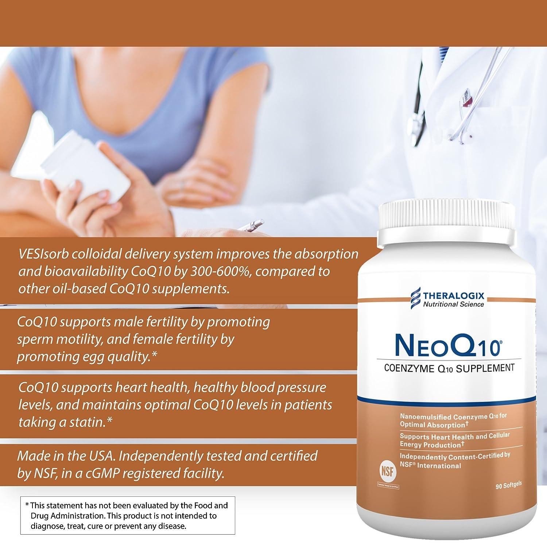 NeoQ10 | Enhanced Absorption Coenzyme Q10 (CoQ10) | 90 softgels