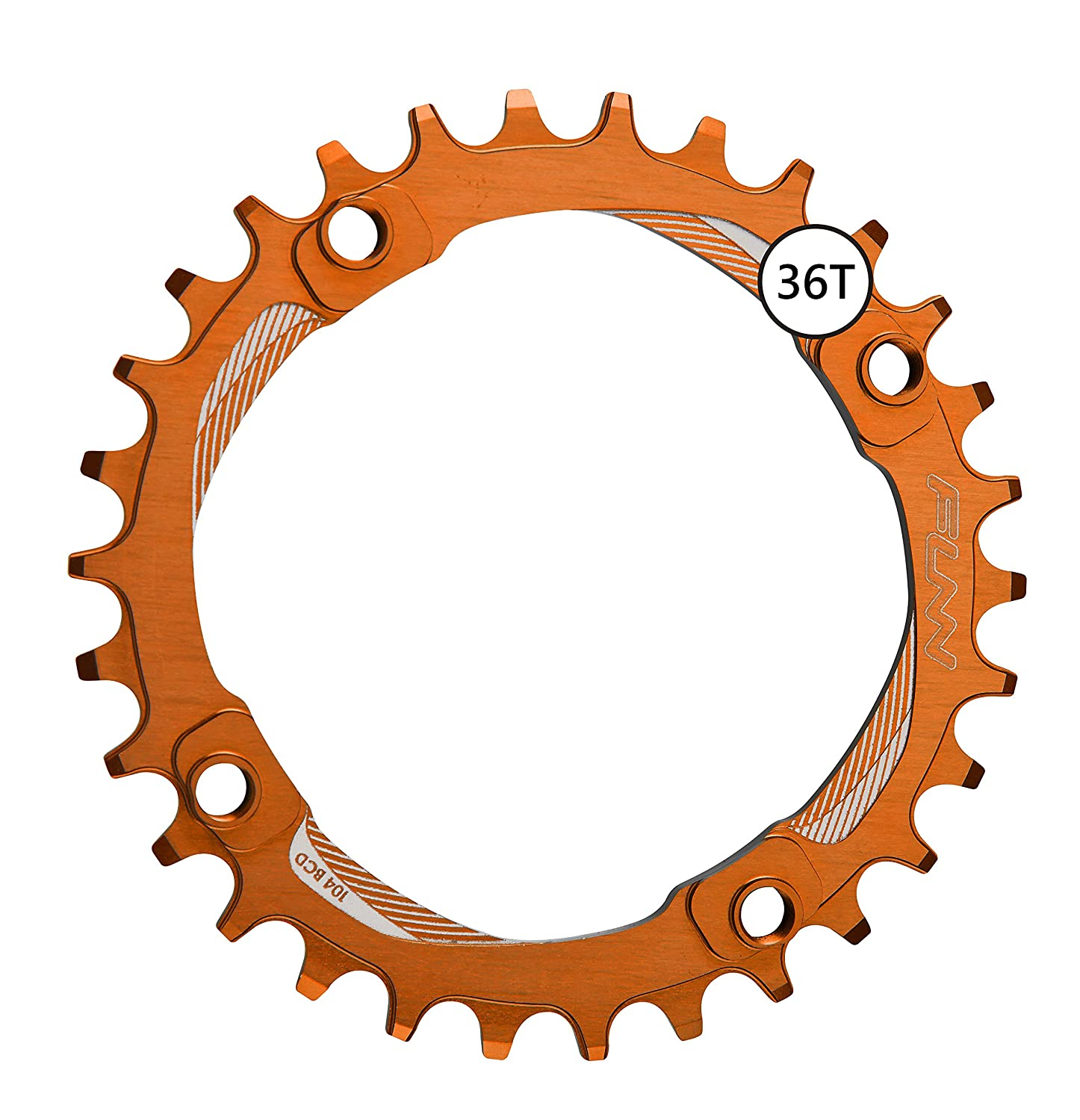 FunnソロNarrow Wide Chainring 36t B076P6HSBZ オレンジ オレンジ