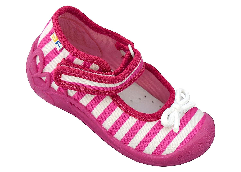 3f freedom for feet Mädchen Babyschuhe mit Klettverschluss | Atmungsaktiv | Süß 4 Farben Neugeborene Hausschuhe mit Echtes Leder Einlegesohlen | Größe 19 bis 25