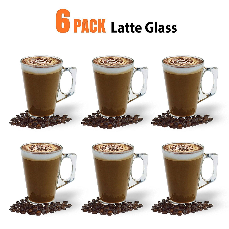 Ever Rich Taza de té café Latte de 240/300 ml (Adecuada para Tassimo y Dolce Gusto) Juego de 4 o 6 Vasos (240ML + Spoons): Amazon.es: Hogar