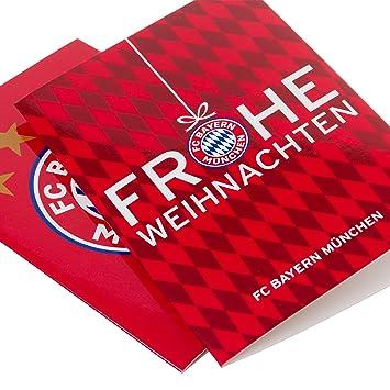 München Karte Bayern.Fc Bayern München Weihnachtskarte Set Fcb Gratis Sticker München