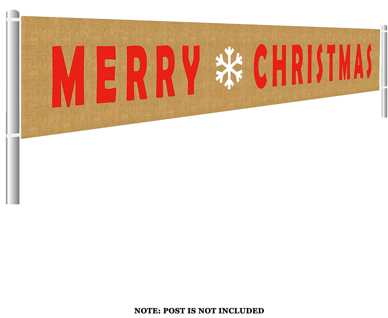 大きなメリークリスマスバナーサイン ガーランド パーティー小道具 ホームホリデーバナー クリスマスデコレーション用 9.8 x 1.5フィート   B07K8R4PJN