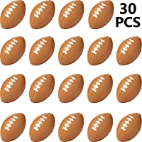 30 Packs Mini Football Sports Stress Ball, Mini Foam Sports Ball, Foam Sports Ball for School Carnival Reward, Chrismas…
