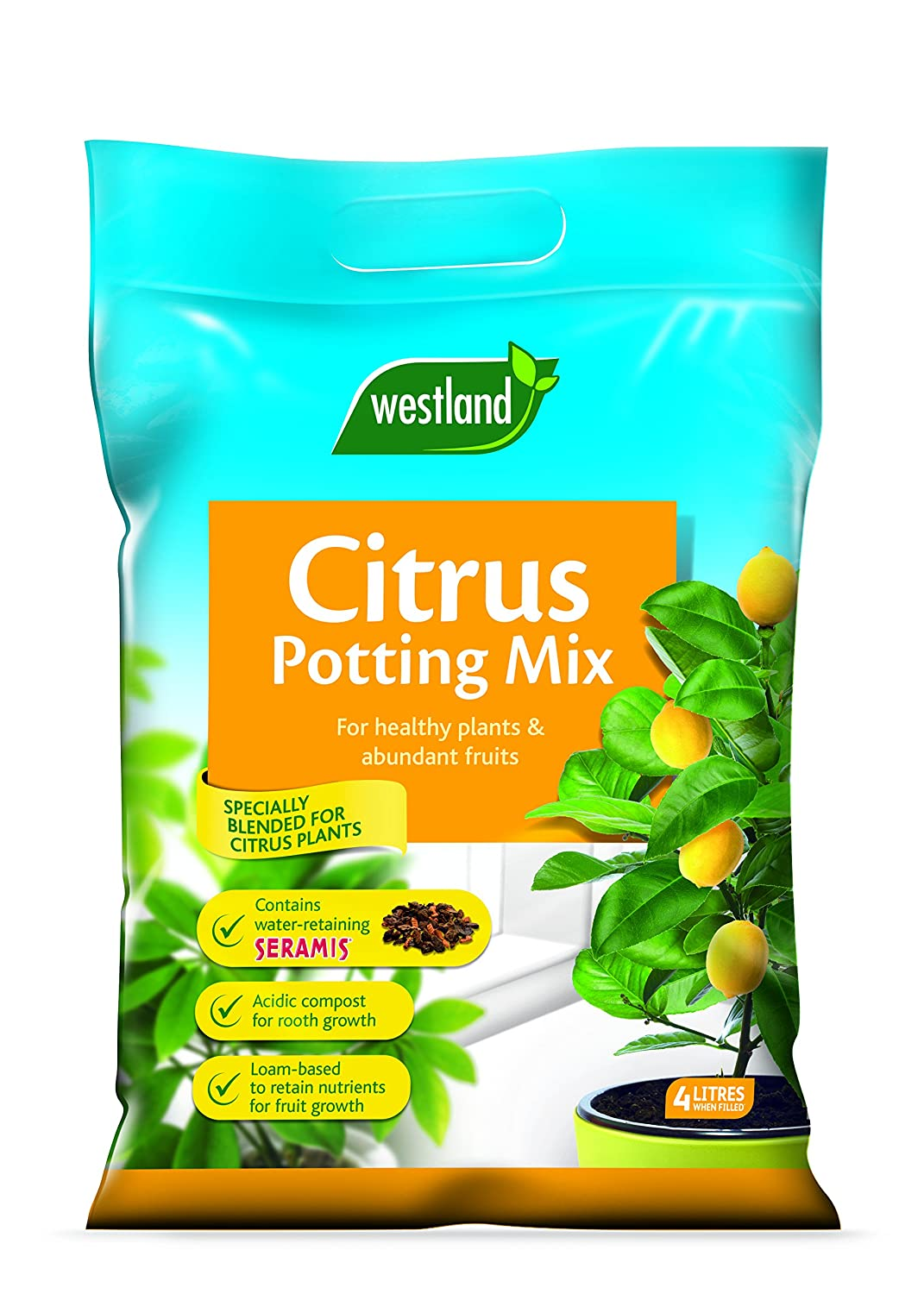 Westland Citrus Potting Compost Mix and Enriched with Seramis, 8 L Westland Horticulture 10200036