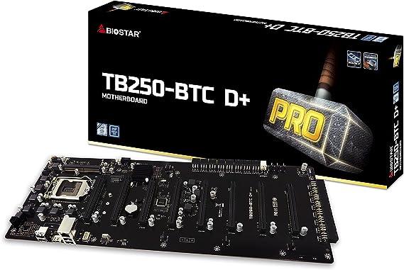 BIOSTAR TB250-BTC D+ LGA1151 SODIMM DDR4 2400 8 GPU Support Mining Motherboard