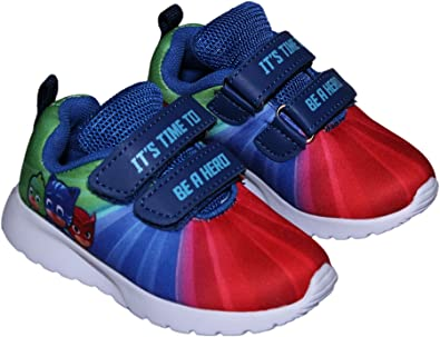PJ MASKS Childrens Its Time To Be a Hero Velcro Strap Sneakers Multi Junior Size 10