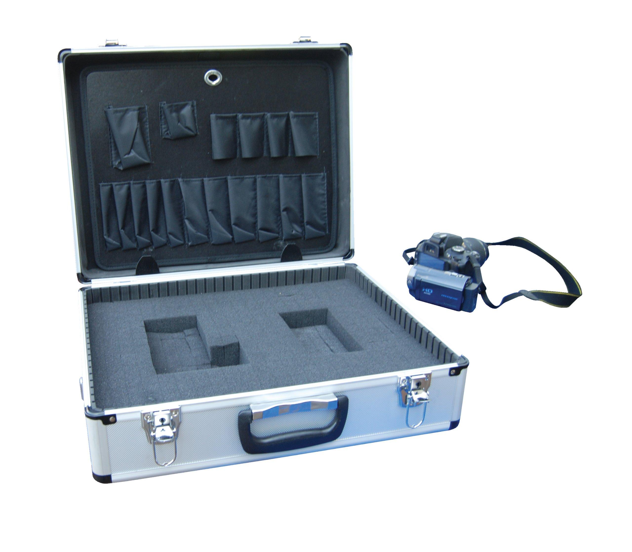 Vestil CASE-1814-FM Aluminum Tool Case - Foam Insert, 14'' Length X 18'' Width X 6'' Height, 6 lbs. by Vestil (Image #2)