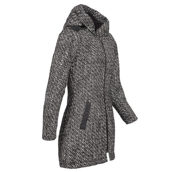 Sublevel eleganter Woll Übergang HerbstWinter Stil den Parka schlanken für Mantel Kapuze Jacke Damen für ÜbergangsmantelWinterjackeWoll im BsxQrdCtho