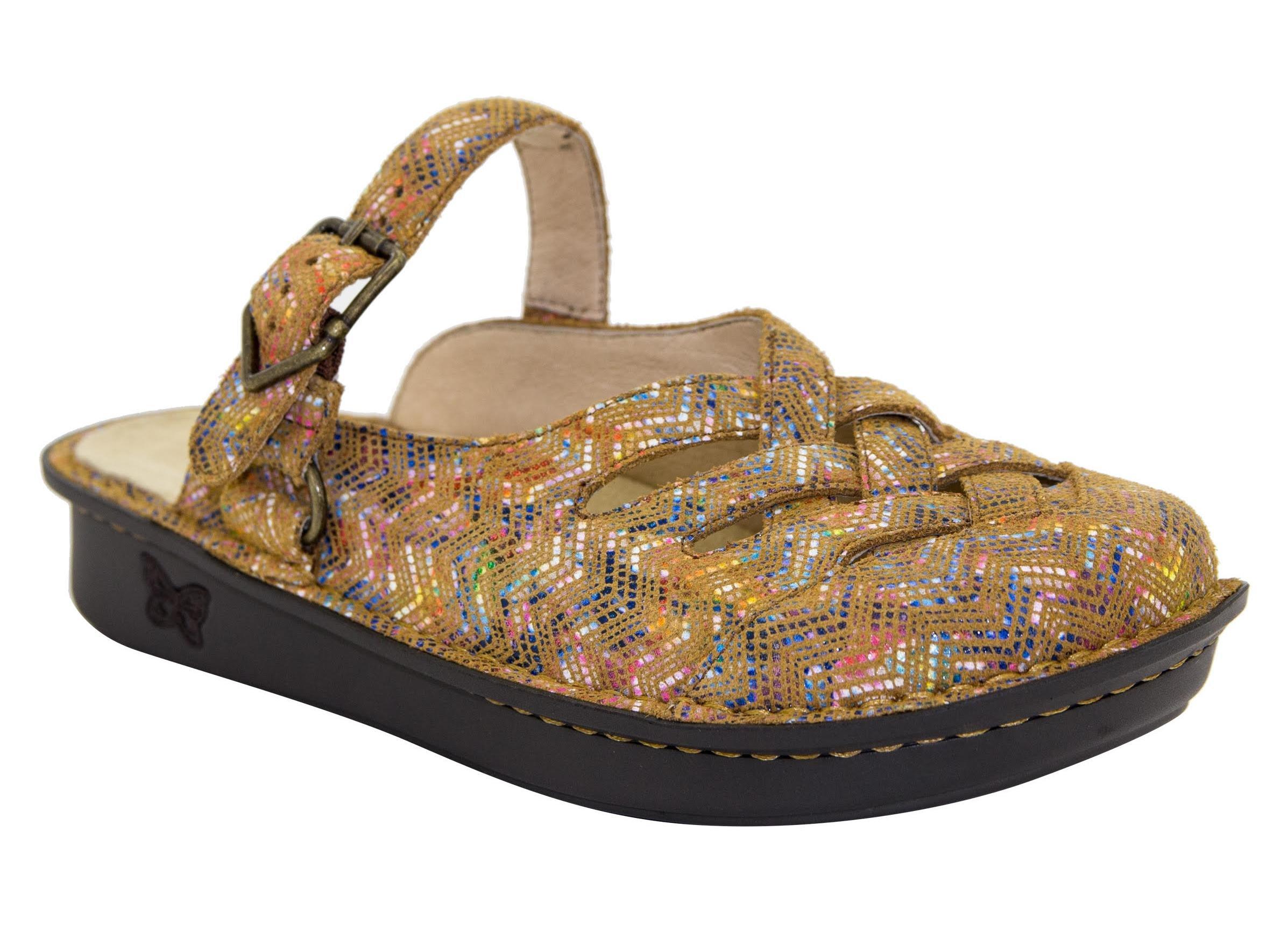 Alegria Women's Freesia Leather Clog Limited Edition RIC Rack Rainbow Tan 39 Medium EU / 9-9.5 B(Medium) US by Alegria