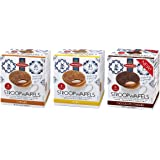 Daelmans Stroopwafels Wafers Variety Pack (Caramel, Honey, Chocolate) Jumbo Size (Pack of 3)