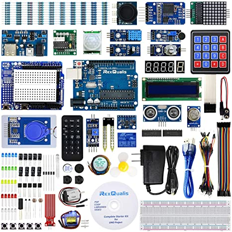 REXQualis Arduino UNO R3 Complete Starter Kit w/Detailed Tutorial for  Arduino UNO