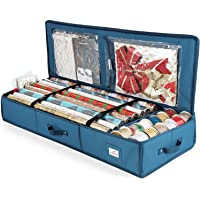 Hearth & Harbor Luxury Christmas Organizer Wrapping Paper Rolls Bed Container, Storage Box for Holiday Accessories, 600D…