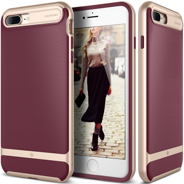 more photos 6e03b 7d0d8 Caseology Wavelength for Apple iPhone 8 Plus Case (2017) / for iPhone 7  Plus Case (2016) - Stylish Grip Design - Burgundy