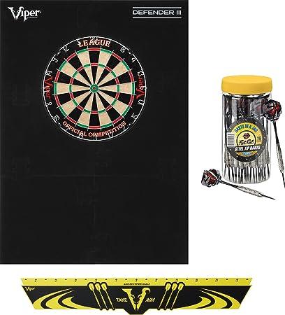 Viper DART CADDY Holder Steel or Soft Tip Darts MAHOGANY Dartboard WALL MOUNTED