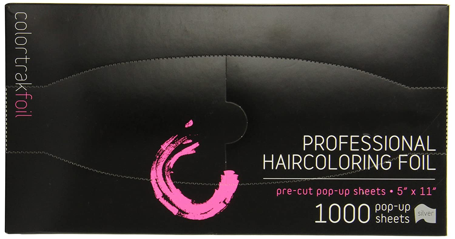 Colortrak Pre-cut Popup Highlighting Foil Sheets, Silver, 1000 Sheets, 5-Inch x 11-Inch 1000-SIL