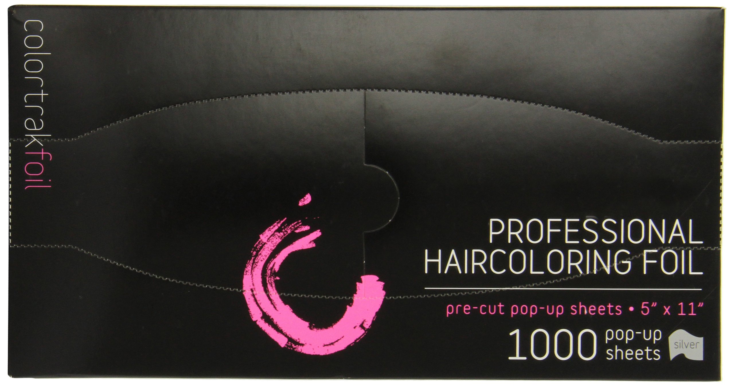 Colortrak Pre-cut Popup Highlighting Foil Sheets, Silver, 1000 sheets 5'' x 11''