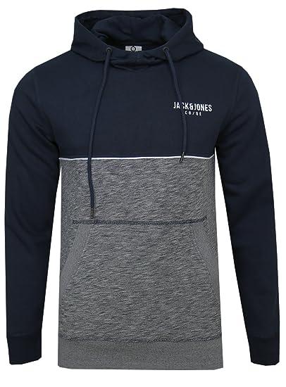 7b5389155bf6 Jack   Jones - Sweat-Shirt à Capuche - Homme - Bleu - X-Large  Amazon.fr   Vêtements et accessoires