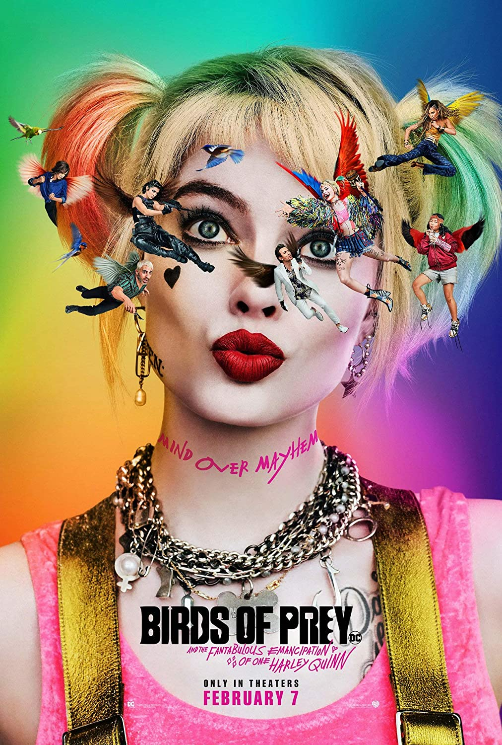 Amazon Com Gzsgwli Birds Of Prey And The Fantabulous Emancipation Of One Harley Quinn 2020 Movie Poster 30x45cm Canvas Posters Prints