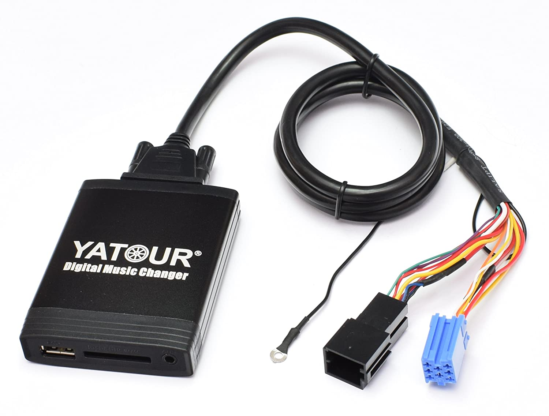 Yatour - Adaptador para radios de coche Volkswagen Navi MCD y MFD, Alpha (Beetle), Beta 5, Gamma 5 (CD), Premium 5, Skoda MS 303, MS 501, MS 502, ...