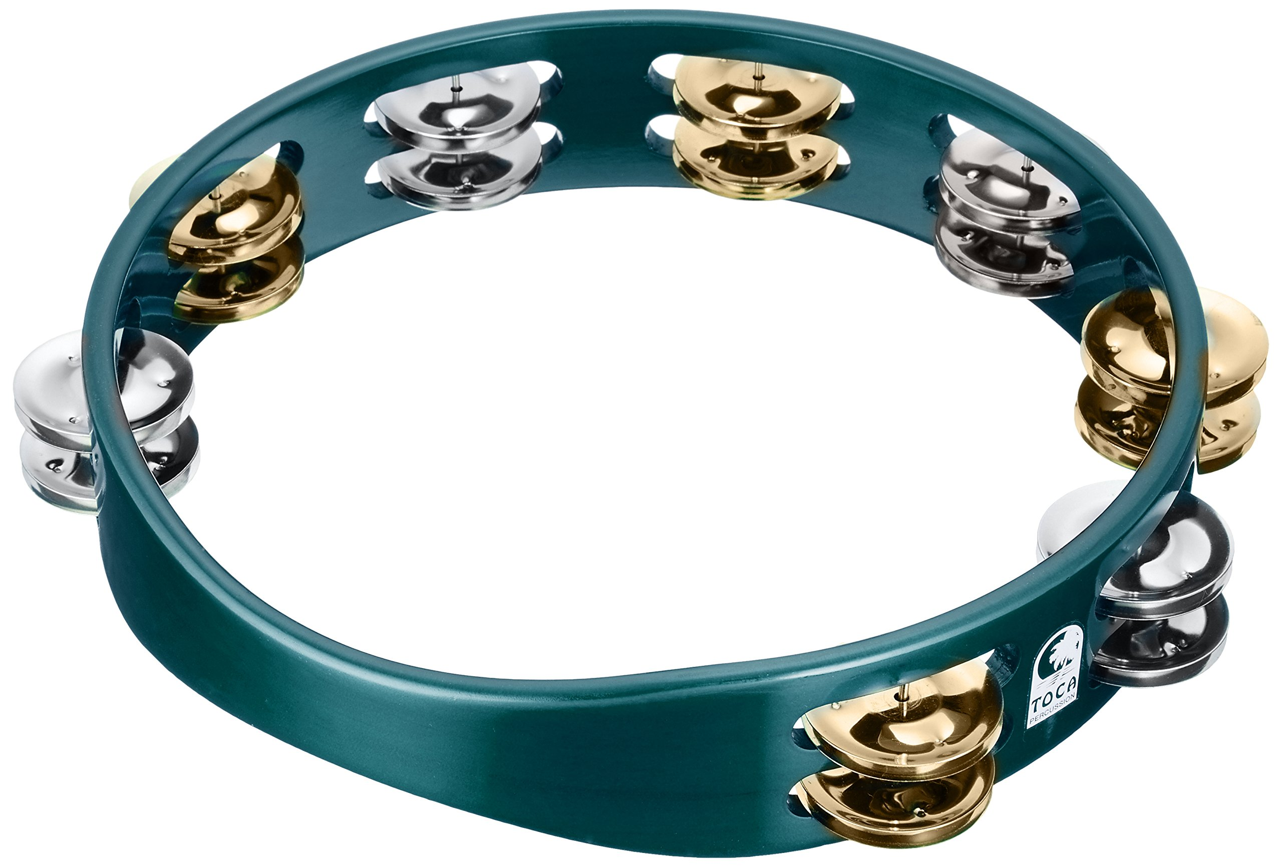 Toca TCT10-GN ColorSound Tambourine - Green by Toca