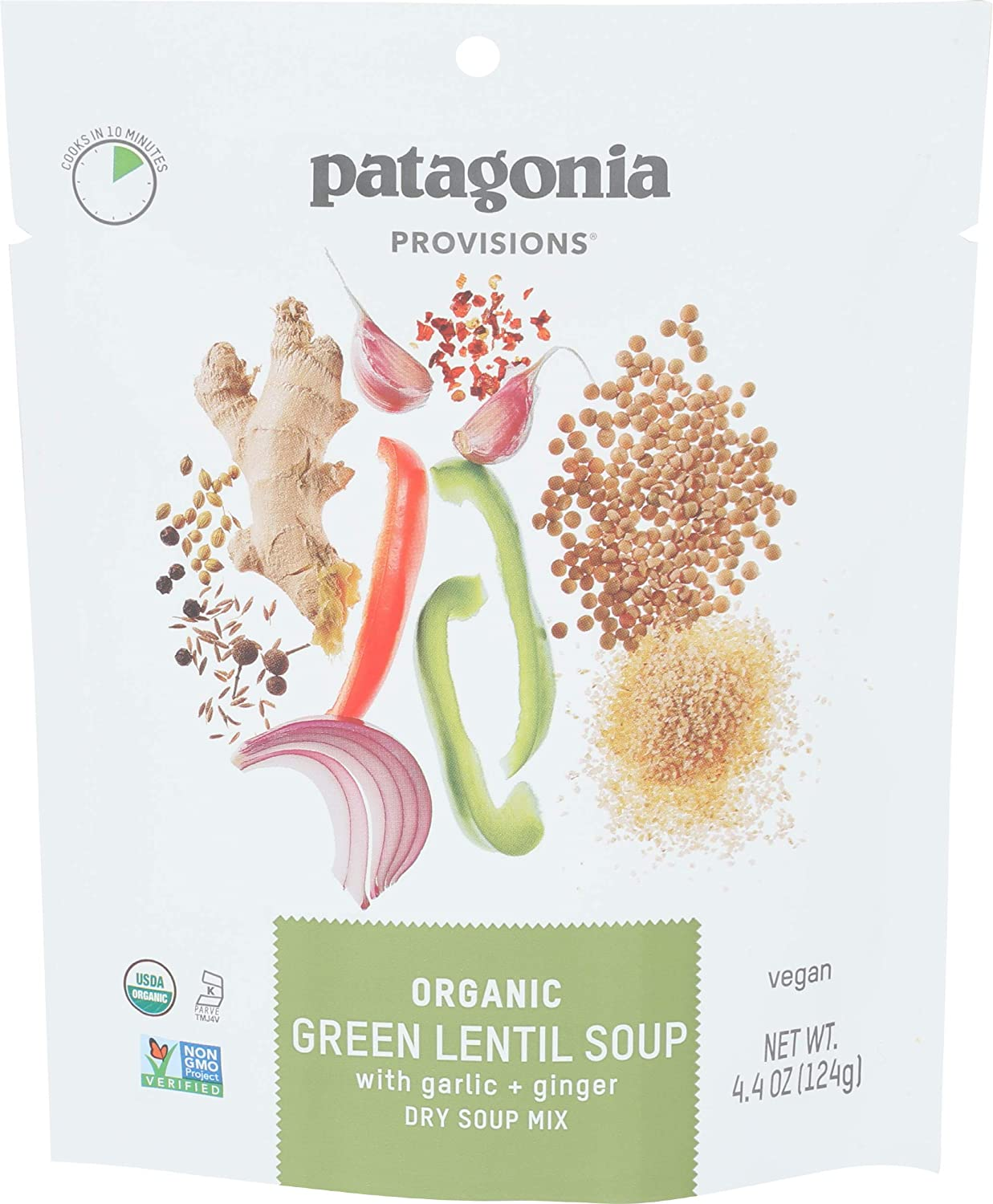 Patagonia Provisions, Soup Green Lentil, 4.4 Ounce