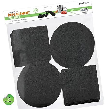 12 piezas filtros de carbón activado para compost filtros de repuesto: Amazon.es: Hogar