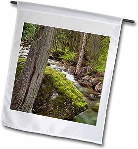 Danita Delimont - Montana - Mission Creek near St. Ignatius, Montana - US27 CHA1828 - Chuck Haney - 18 x 27 inch Garden Flag (fl_91870_2)