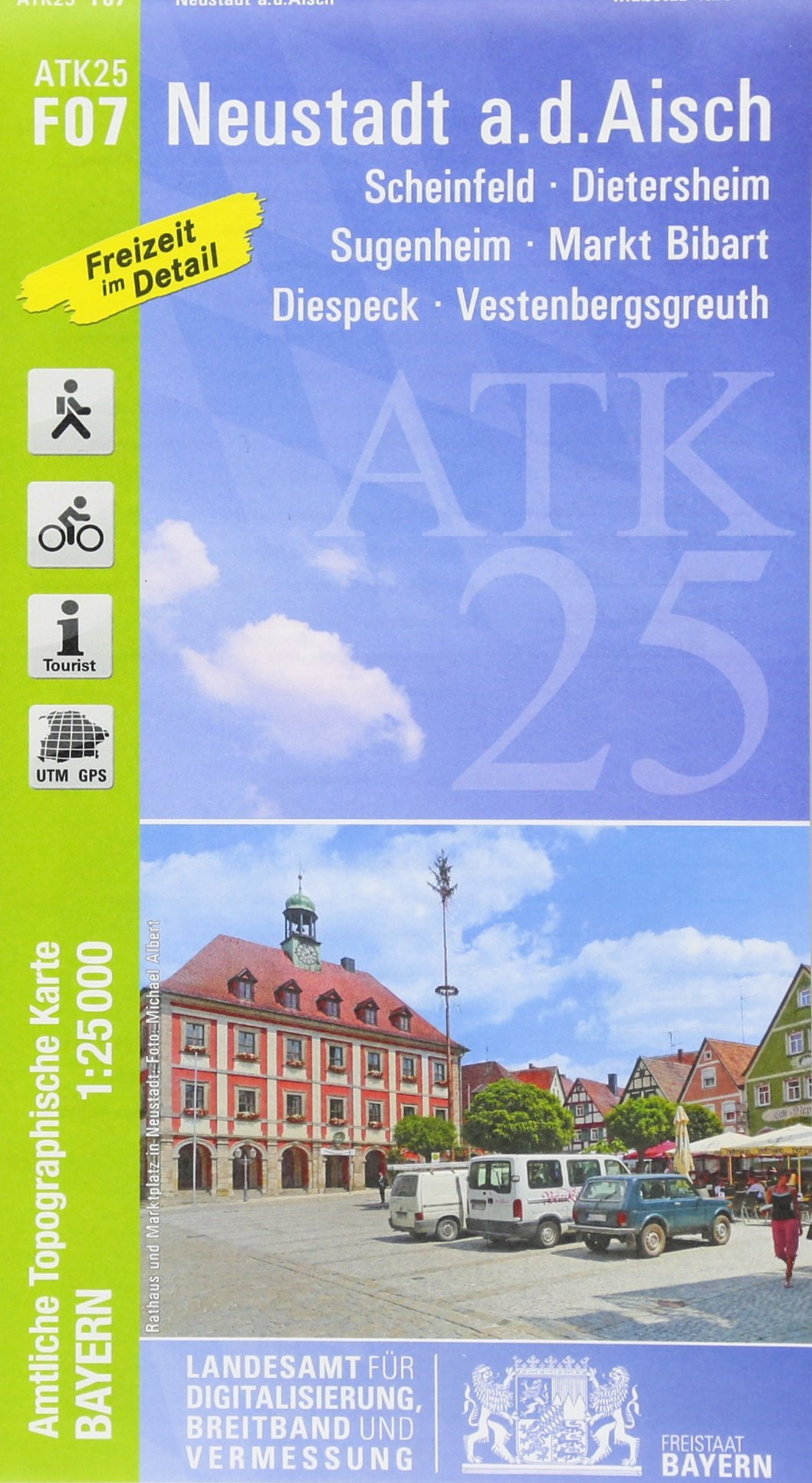 ATK25-F07 Neustadt a.d.Aisch (Amtliche Topographische Karte 1:25000): Scheinfeld, Dietersheim, Sugenheim, Markt Bibart, Diespeck, Vestenbergsgreuth (ATK25 Amtliche Topographische Karte 1:25000 Bayern)