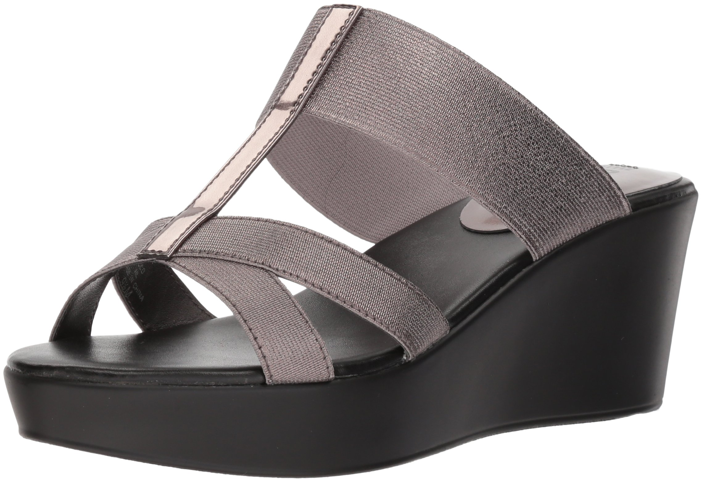 Style by Charles David Women's Japan Wedge Sandal, Pewter, 7 M US