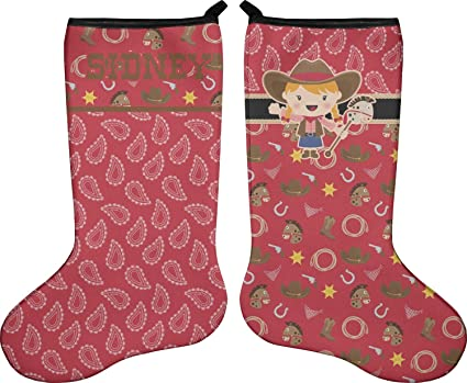 Western Christmas Stockings Personalized.Amazon Com Rnk Shops Red Western Christmas Stocking