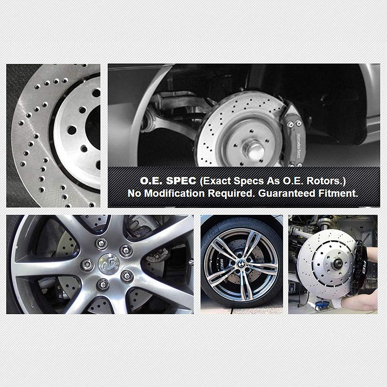 Front+Rear OE Disc Brake Rotors /& Ceramic Pads For Mercedes Benz C250 C300