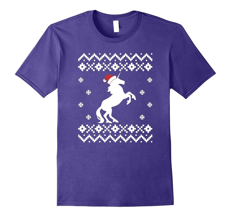 Unicorn Ugly Christmas Sweater, Funny Unicorn Santa-FL