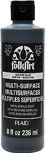 FolkArt Multi-Surface Paint (8 oz), , Pure Black
