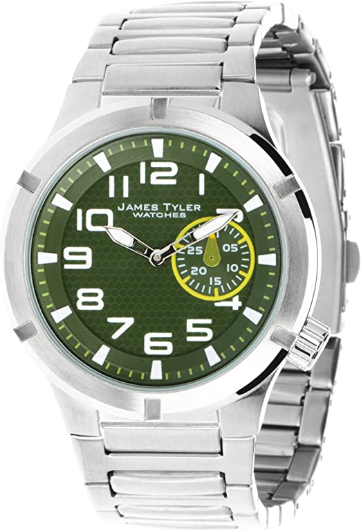 James Tyler Men S Watch Quartz Movement Stainless Steel Band Brushed 703 1 Jt Amazon Co Uk Watches