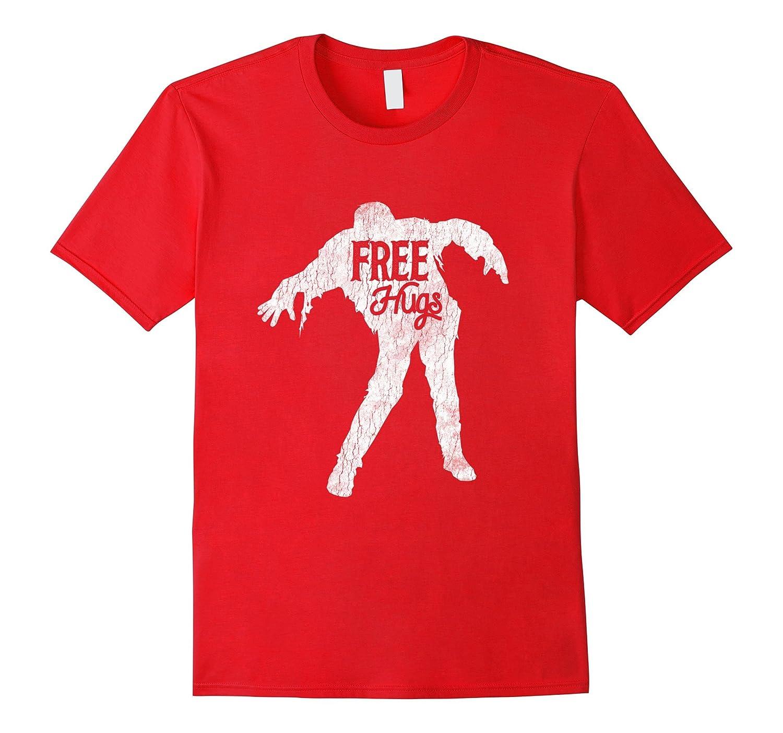 Zombie Free Hughs Zombie Halloween Brain Costume Shirt Gift-FL