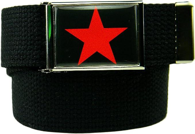"""1.25/"""" FLIP-TOP black metal belt buckle with end tip for Canvas web belt"""