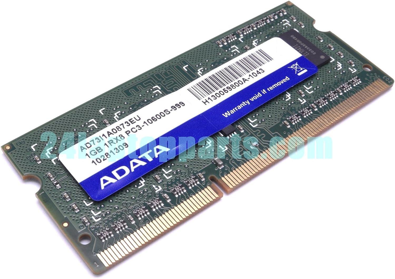 ADATA 1GB DDR3 RAM PC3-10600 204-Pin Laptop SODIMM