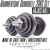 Adjustable Hammertone Dumbbell 20KG Set Fitness Gym Exercise Equipment
