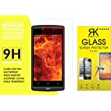 RKMOBILES Reliance Lyf Flame 7 Tempered Glass, 9H Hardness Ultra Clear, Anti-Scratch, Bubble Free, Anti-Fingerprints & Oil Stains Coating (For Reliance Lyf Flame 7)
