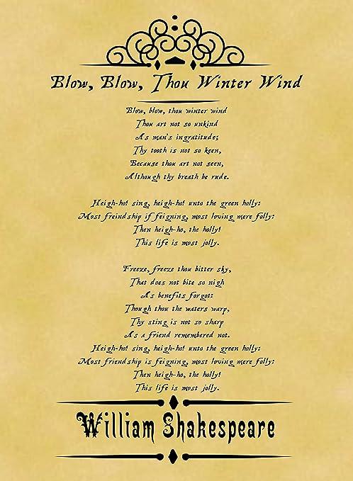 Amazon.com: Tamaño A4 Pergamino Cartel clásico Poema ...