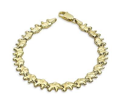 Carissima Gold Women's 9 ct Yellow Gold Bismark Bracelet of Length 19 cm jCCP7yheQ