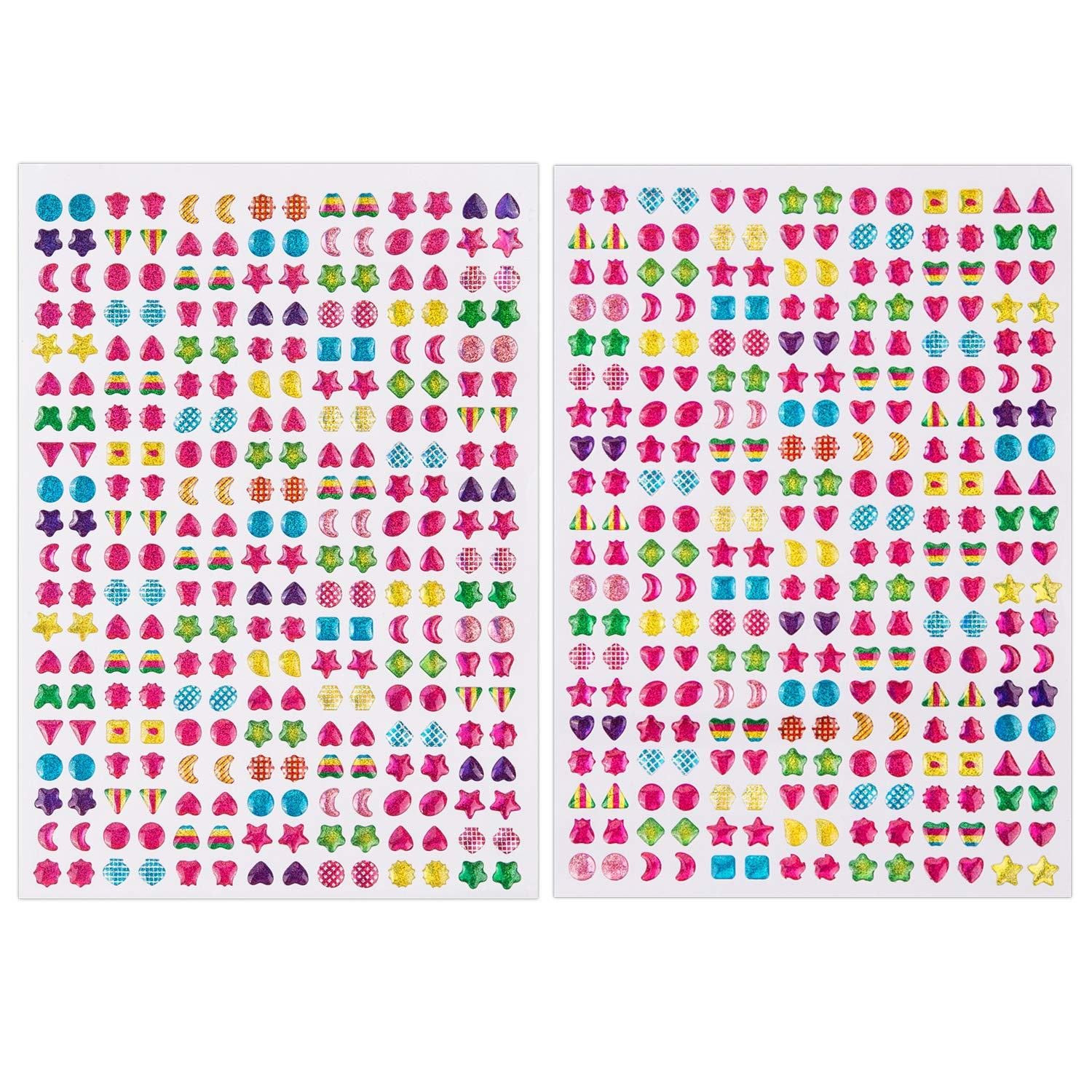 Sparkly Happy Birthday Peel Off Stickers Card Making Crafts Glitter 7 Colours