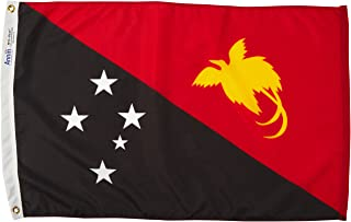 product image for Annin Flagmakers Model 196642 Papua-New-Guinea Flag Nylon SolarGuard NYL-Glo, 2x3 ft, 100% Made in USA to Official United Nations Design Specifications