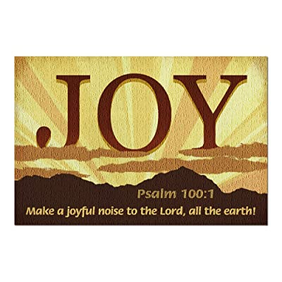 Psalm 100:1 - Inspirational (Premium 500 Piece Jigsaw Puzzle for Adults, 13x19, Made in USA!): Toys & Games