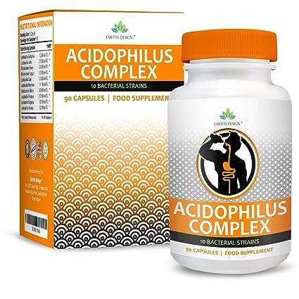 Complejo Acidophilus - 10 Cepas Bacterianas - 1+ Millones de UFC - Alta Concentración -