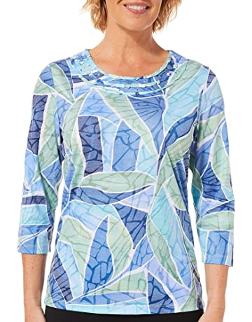 867b14ca95ba Alfred Dunner Womens Greenwich Hills Stained Glass Top