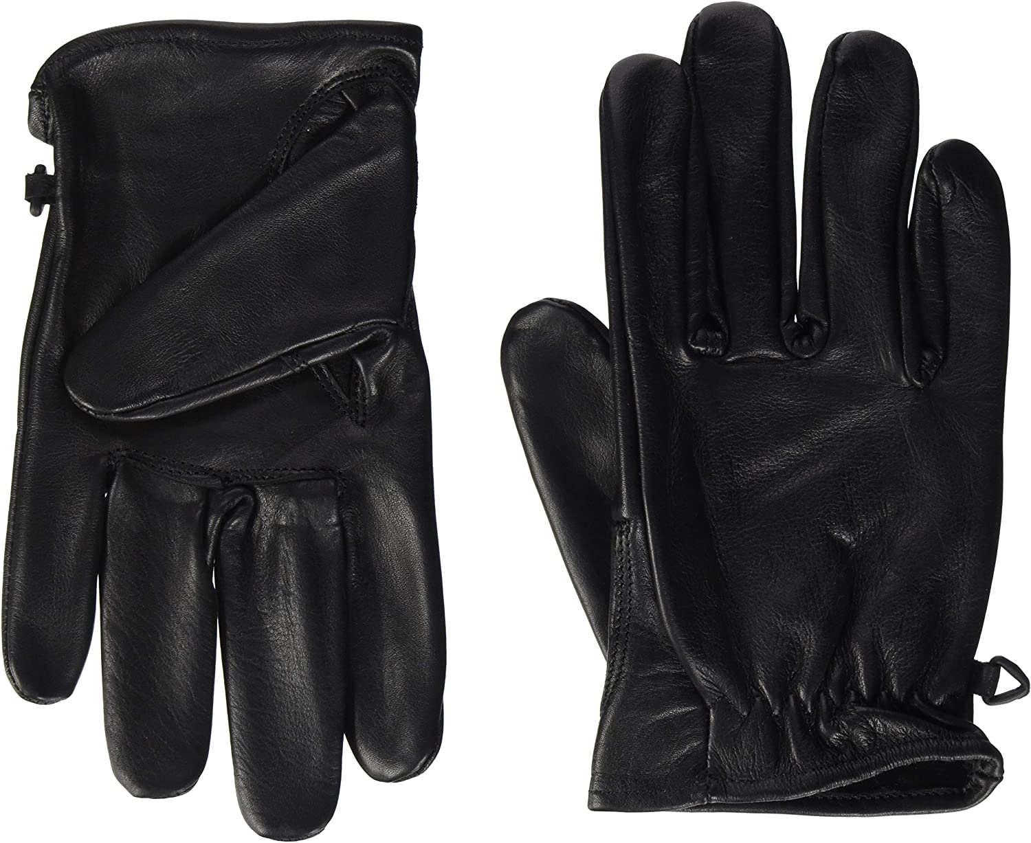 Motorcycle Gloves Leather Retro Old School Cafe Racer Chopper Black M Brown